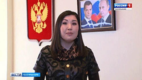 "Марина Мукабенова поздравила ГТРК ""Калмыкия"" с юбилеем"