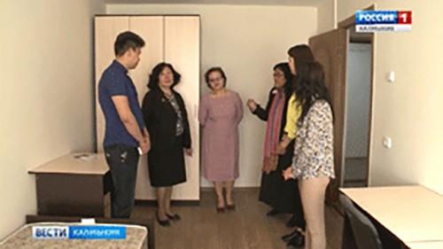 В КалмГУ состоялось открытие нового общежития