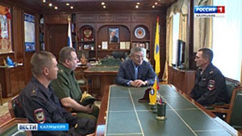 Алексей Орлов встретился с новым командиром войсковой части 2666