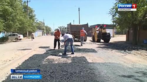 В Целинном районе начался ямочный ремонт дорог