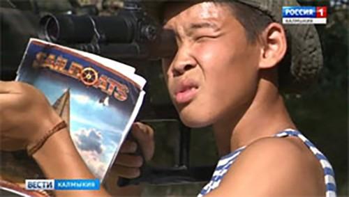 В Калмыкии работает детский военно-патриотический лагерь «Юный десантник»