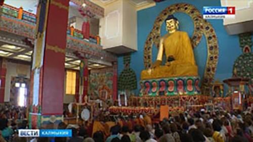 Кунделинг Ринпоче дарует для студентов и школьников Благословение Белого Манджушри