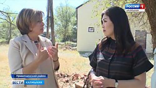 Марина Мукабенова встретилась с жителями села Приютное