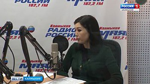 Марина Мукабенова дала эксклюзивное интервью для «Радио России-Калмыкия»