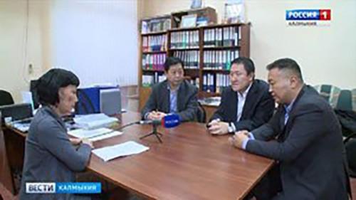 """Журналисты из КНР дали интервью ГТРК """"Калмыкия"""""""