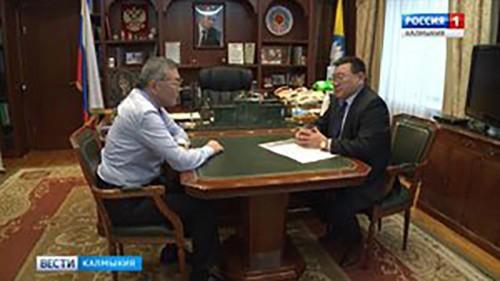 Алексей Орлов встретился с бизнес-омбудсменом Калмыкии
