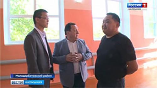 В селе Тундутово отремонтировали школьный спортзал