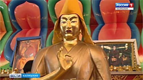 В Центральном хуруле «Золотая обитель Будды-Шакьмуни» установлена статуя Зая Пандиты