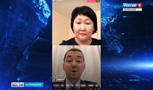 Игорь Зотов в прямом эфире общался с жителями Калмыкии в Инстаграм