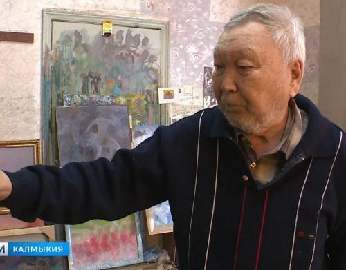 Народному художнику Калмыкии Цебеку Адучиеву исполнилось 80 лет