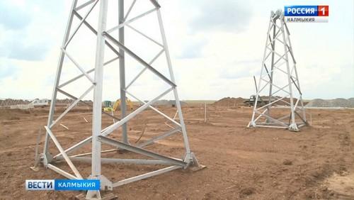 В Малодербетовском районе приступили к монтажу солнечных электростанций