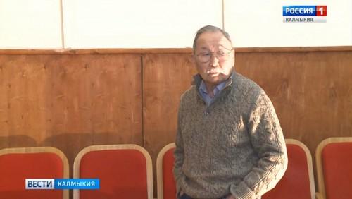 Народный артист Калмыкии Сергей Мучиряев отмечает 85-летний юбилей