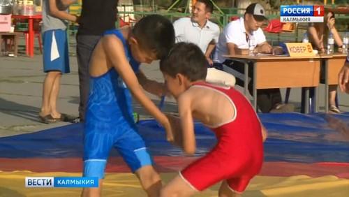 В Элисте прошел турнир по классической борьбе под открытым небом
