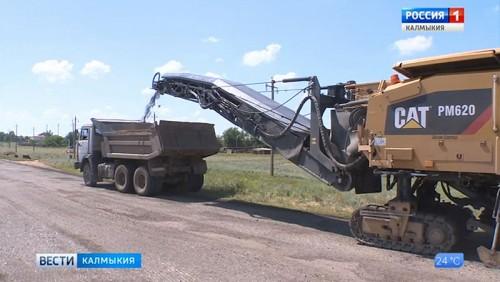 В Цаган-Амане приступили к дорожно-строительным работам