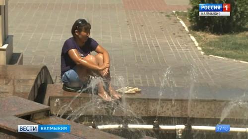 В Калмыкию пришла жара