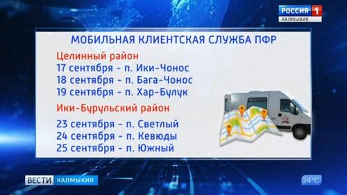 Мобильная клиентская служба ПФР отправится в Целинный район