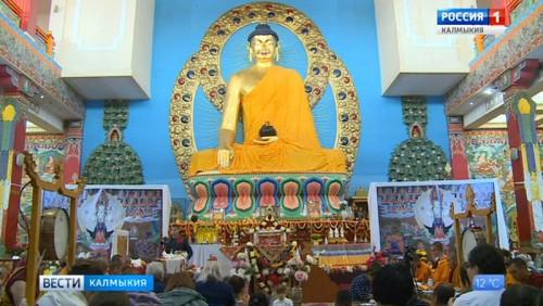 Степная столица стала местом паломничества буддистов