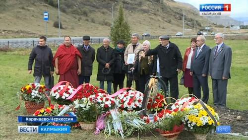 Перезахоронены останки солдата Санжи Манжикова