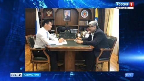 Глава Калмыкии встретился с Юрием Сенглеевым