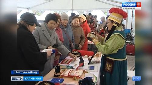 Делегация из Калмыкии на фестивале народных промыслов