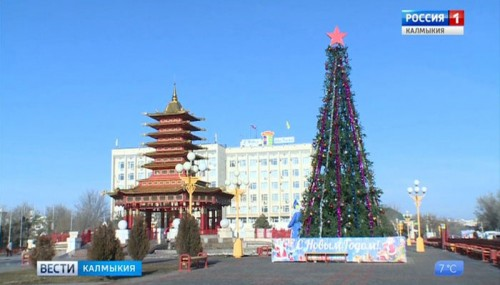 В Элисте установят три новогодние елки