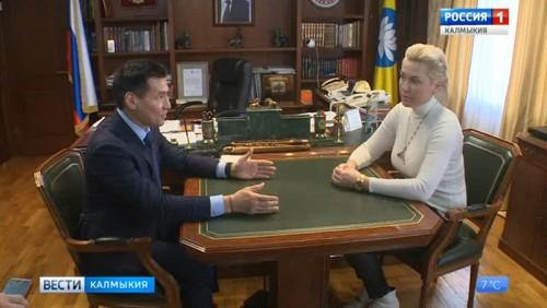 Наталья Рагозина прибыла в Элисту по приглашению главы республики