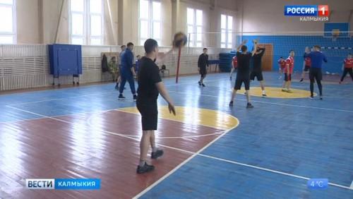 Росгвардия по Калмыкии провела соревнования по волейболу