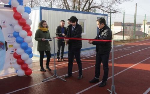 В Элисте появилась новая спортивная площадка