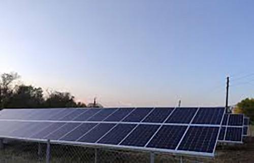 Завершилось строительство первой очереди Малодербетовской Солнечной электростанции