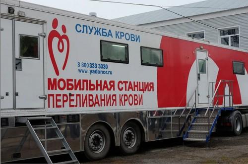 Центр крови на колесах продолжает работу в Октябрьском районе