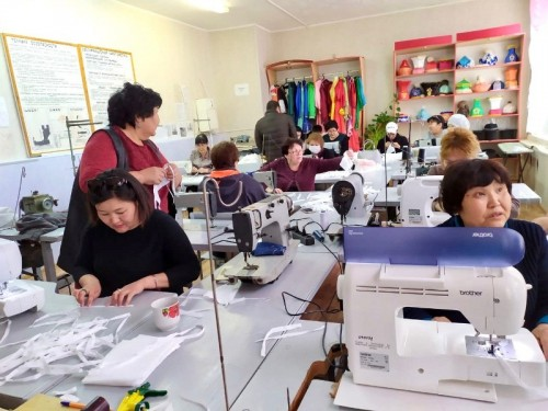 В Лагани запустили производство медицинских масок