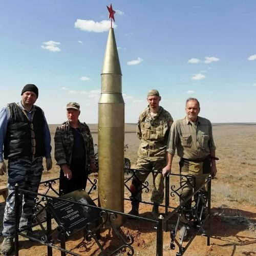 Поисковики Калмыкии установили ещё один обелиск и памятную плиту близ посёлка Хулхута