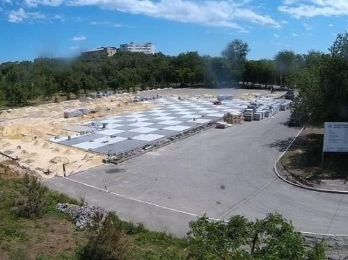 Реконструкция главной площади Элисты идет полным ходом