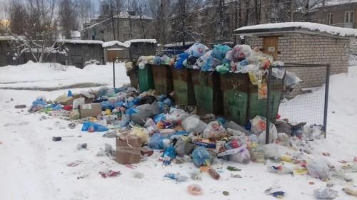 Элистинцы жалуются на несвоевременный вывоз мусора со дворов многоэтажек