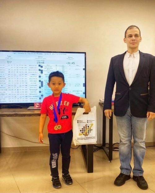 Пятилетний калмыцкий шахматист победитель Первенства Москвы