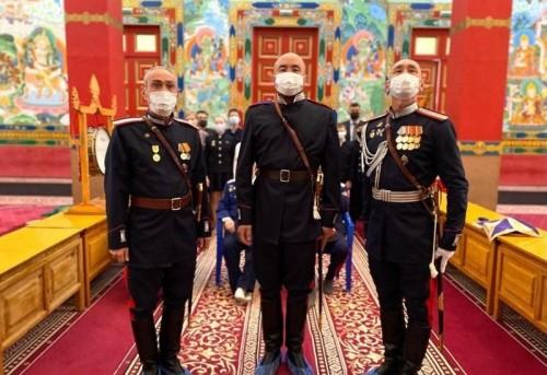 Трое калмыцких казаков приняли участие в главном Параде страны