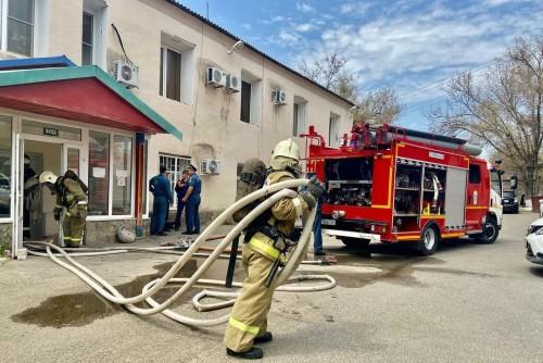 Пожар в министерстве здравоохранения