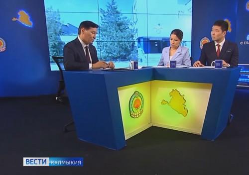 Глава Республики Бату Хасиков в прямом эфире ответил на вопросы жителей