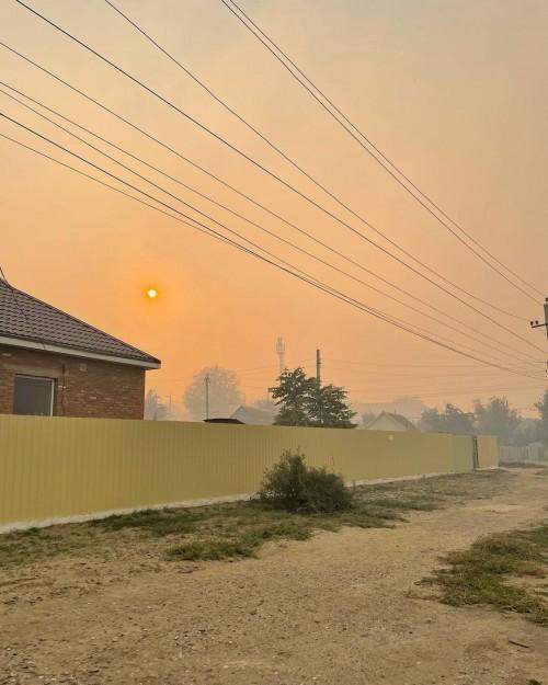 Возгорание камыша произошло сегодня на побережье Каспия