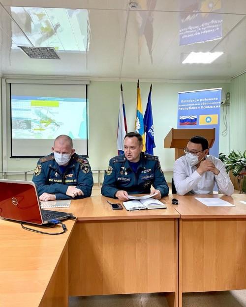 В Лаганском районе было экстренно проведено заседание Комиссии по ЧС