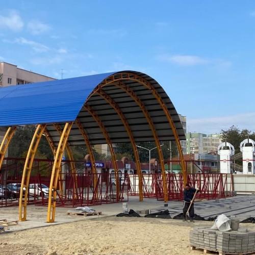 Строительные работы на территории скейт-площадки в парке Победы перешли в заключительную стадию