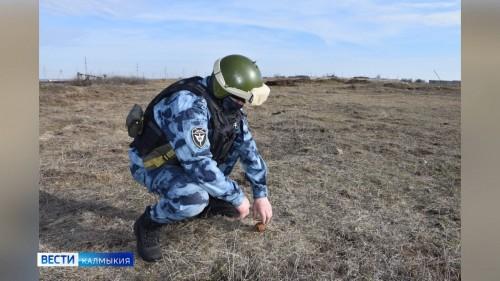 Местный житель во время обхода территории в районе объездной трассы Астрахань-Волгоград обнаружил гранату