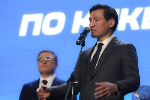Глава Калмыкии Бату Хасиков принял участие в торжественном открытии Чемпионата и Первенства России по кикбоксингу в Челябинске