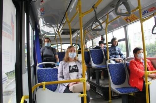 Ежедневные рейды в общественном транспорте по соблюдению масочного режима продолжаются