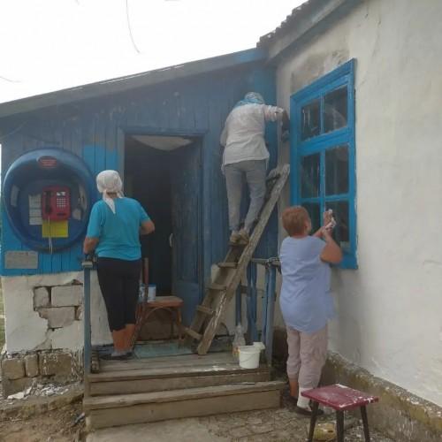 В посёлке Бага-Чонос неравнодушные жители провели субботник