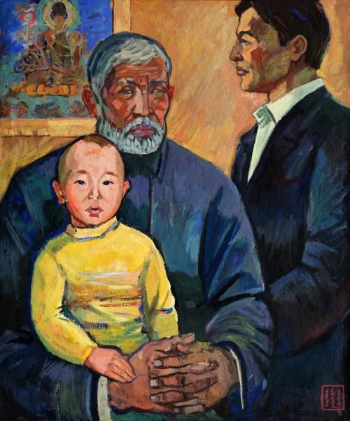 В Национальном музее Калмыкии открылась персональная выставка Заслуженного художника России Очира Кикеева