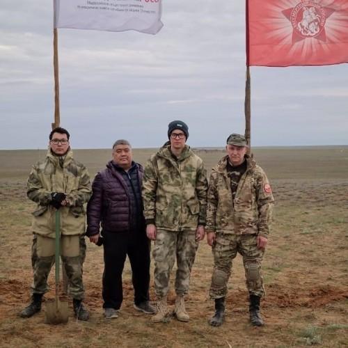 Вахта памяти официально открыта в Калмыкии