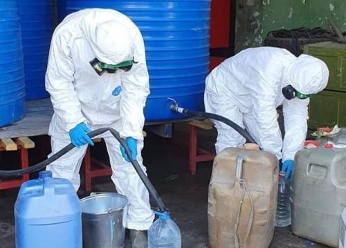 В Элисте началось производство  дезинфецирующего средства Анолит