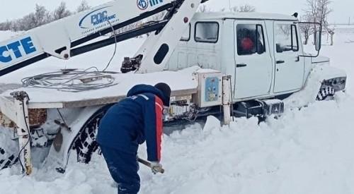 В республике продолжается борьба с последствиями снегопада