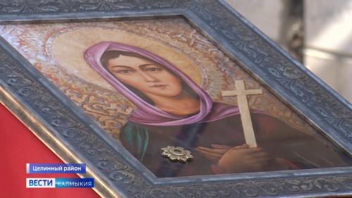 Молебен в честь Святой Рипсимии впервые состоялся в строящемся храме села Троицкое